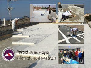 Waterproofing courses organised by the Malta Waterproofing Association